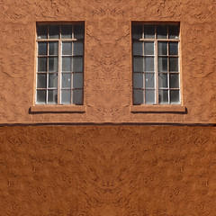 two by two (msdonnalee ( off and on)) Tags: window ventana janela finestra fenster fenetre wall texture fx digitaleffects dwwg