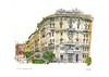 Milano piazza (wanstrow) Tags: milano italy drawing archway pink green architecture piazza
