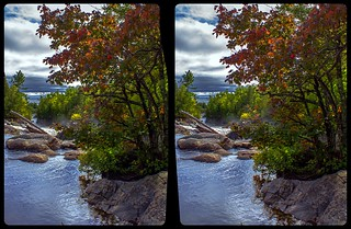 Pinguisibi river 3-D / CrossView / Stereoscopy / HDR / Raw