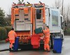 Doncaster Council-Suez Blue Bin & Green Box Recycling New Mercedes Econic LK18 UTC 16th March 2018 (8) (asdofdsa) Tags: doncaster council recycling 18plate mercedes econic suez bluebin greenbox rain weather highviz houses