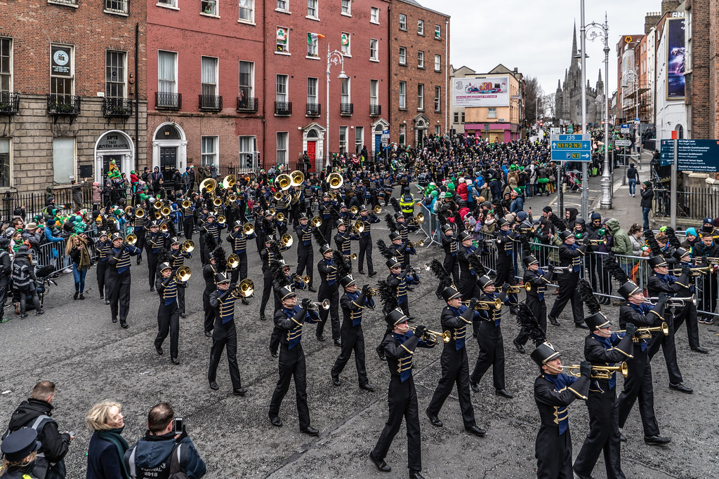 Legacy High School Lightning Marching Band [St. Patricks Day Parade 2018 In Dublin]-137529