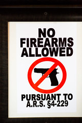 No Firearms Allowed (Thomas Hawk) Tags: arizona bigapple billjohnsons billjohnsonsbigapple mesa usa unitedstates unitedstatesofamerica gun restaurant fav10