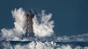 _D811316_Blanc bleu (Brestitude) Tags: phare lighthouse mer iroise lefour tempête storm wave vague grosse hudge brittany argenton bretagne breizh france ©nevolaurent2017 brestitude