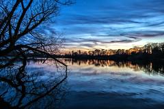 Equinox (Fin Wright) Tags: ianwright 2017 blip finwrightphotographycouk 6d canon 1635 l eos fin finwright wright finwrightphotography themere mere lake water sunset blue shropshire sky ellesmere england uk landscape