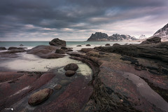 Utakleiv Beach (Caramad) Tags: light norway artico landscape longexposure seascape travel rocks lofoten agua beach uttakleiv
