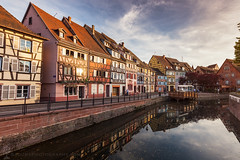 Colorful houses in Colmar (hsadura) Tags: citylife colmar europe france frenchculture grandest mediterranean architecture blue building city cityscape day downtown evening illuminated landmark morning outdoors sky skyline street sunny travel