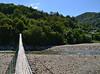 Suspension bridge (МирославСтаменов) Tags: russia sochi lazarevskoye psezuapse bridge river coast watercourse pebble mountain greenery