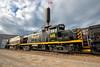 WNY&P 406 - Olean, NY (Wheelnrail) Tags: wnyp western new york pennsylvania olean alco rs3m train rail road railroad engine house diesel american flag ny rails 406