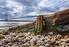 Humber Groin (Almac1879) Tags: wood shoreline neglect landscape bridge wooden humberbridge humber landscapes shore groin hessle sky river pebblebeach bridges weathered pebbles groins decay worn beach water