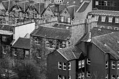 EPMG Edinburgh Cityscapes March 2018-4 (Philip Gillespie) Tags: edinburgh scotland scottish city march 2018 spring buildings architecture scape view roofs chimneys steam trees birds pigeons seagulls views castle ancient museum history sun clouds sky mountains hills churches cathedral people nature mono monochrome black white colour color blue red green yellow orange grey purple wildlife urban canon 5dsr framing framed