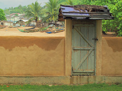 The fishing village next door, Axim (istevens) Tags: axim ghana flektogon 35mm jena zeiss m42