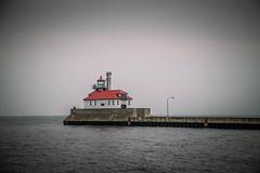 Duluth17 - RedLighthouse-0615 (TTrimble Photography) Tags: duluth minnesota fog lighthouse lakesuperior