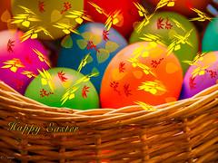 Have Egg-cellent Easter (el-liza) Tags: eggs food colourful vibrant vivid basket easter