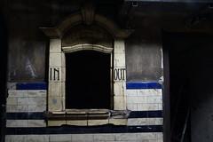 Subterranean Victorian Ticket Booth (steve_whitmarsh) Tags: london euston tunnel abandoned derelict station tube underground eustonstation subway