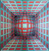 Yllus by Vasarely 1978 063a (Andras, Fulop) Tags: vasarely acryl canvas painting museum exhibition artwork opart nikon p7700