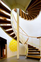 Swirl (Maerten Prins) Tags: nederland netherlands holland wageningen lumen stair stairwell spiral staircase curve curves round snail brown