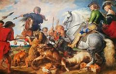 Peter Paul Rubens (Flemish) 1577-1640,Wolf and Fox Hunt,ca.1616,oil on canvas,96⅝×158⅛ (245.4×376.2cm) (marcos2077) Tags: metropolitanmuseumofart peterpaulrubens
