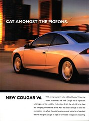 2000 Ford Cougar 2.5 Litre V6 Coupe FTE Page 1 Aussie Original Magazine Advertisement (Darren Marlow) Tags: 2 5 6 20 00 2000 ford f t e fte c cougar coupe 25 l litre v v6 car cool collectible collector a automobile vehicle u s usa united states america american 00s