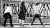 Candid - Grand-Pont (Phonatics) Tags: candid street urban people kids black white bnw bw light shadows sun lausanne switzerland nikon d300 nikkor 50mm