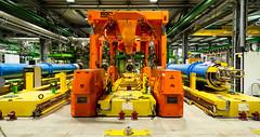 CERN Superconducting Dipole Assembly Area (evenkolder) Tags: cern sm18 acceleratorphysics physics canon6d lightroom switzerland france geneva particleaccelerator accelerator magnet dipole cryogenic