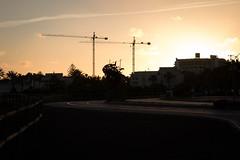 Twin Tower cranes - 20180402-5723 (S26 Photography) Tags: easter2018 fuerteventura jandia marchapril2018 morrojable pajara towercranes constructioncranes sunset robinsonsmorrojable