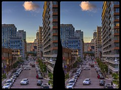 Elizabeth street 3-D / CrossEye / Stereoscopy / HDR / Raw (Stereotron) Tags: toronto to tdot hogtown thequeencity thebigsmoke torontonian downtown financialdistrict streetphotography urban citylife traffic cars north america canada province ontario crosseye crossview xview pair freeview sidebyside sbs kreuzblick 3d 3dphoto 3dstereo 3rddimension spatial stereo stereo3d stereophoto stereophotography stereoscopic stereoscopy stereotron threedimensional stereoview stereophotomaker stereophotograph 3dpicture 3dimage hyperstereo twin canon eos 550d yongnuo radio transmitter remote control synchron kitlens 1855mm tonemapping hdr hdri raw availablelight