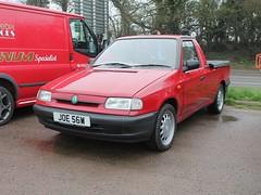 2000 Skoda Felicia 1.9D LX pickup (quicksilver coaches) Tags: skoda felicia pickup joe56w jackshillcafe towcester