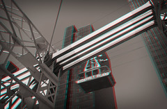 New York, New York-18_R_DDD (DDDavid Hazan) Tags: ny newyork nyc newyorkcity queens queensborobridge rooseveltisland cablecar cable construction architecture transportation cityscape city urban steel manhattan anaglyph 3d bwanaglyph blackandwhiteanaglyph 3danaglyph 3dstereophotography redcyan redcyan3d stereophotography stereo3d