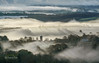 God's Rays (http://www.richardfoxphotography.com) Tags: ilsingtonchurch ilsington dartmoornationalpark dartmoorlandscape devonlandscape devonrollinghills mist misty fog sunrise temperatureinversion inversion clouds sky crepuscularrays crepuscular godrays