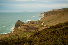 Dorset Coast (Stuart.67) Tags: jurassic coast ocean sea cliff path nikon d800