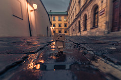 Danbo in Krakow (Vagelis Pikoulas) Tags: danbo krakow old tokina town city colour cityscape landscape street architecture lights travel canon 6d europe poland 2017 autumn november reflection reflections wanter rain