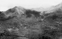 Red Mountain, mines from Barstow Mine Rd., FL Ransome 1900 (Rocky Pix) Tags: redmountainminesfrombarstowminerdflransome1900 guston red mountain silver mining camp mill silvertonrrgrade panorama flransome 1900 usgs unitedstatesgeologicalsurvey original retouching boulder county colorado rockies rockypix rocky pix wmichelkiteley scan