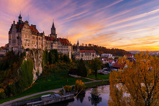 Sunset @ Sigmaringen castle