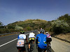 A day in the saddle - approaching a mountain with ruins on top (david_m.hn) Tags: cycling radfahren landschaft landscape strase road berge mountain sizilien sicily italien italy