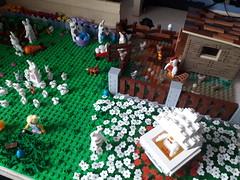 Lego Easter 2018 MOC (BrickWorldPL) Tags: lego legomoc moc bunny chickencoop chickens easter eggs