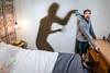 Afraid of Own Shadow 93/365 (stevemolder) Tags: shadow strobist canon tokina 365 project bedroom light