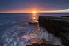 Dawn on the Chopping Block (Justin Cameron) Tags: coastline canonef1635mmf4lisusm leegraduatedfilter dawn whitburn seascape rocks sunrise canon5dmkiii leelittlestopper