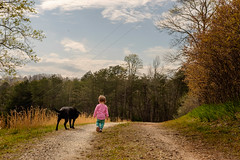 Best Friends (tisatruett) Tags: family childhood dog canine bestfriends stroll walk walkingthedog