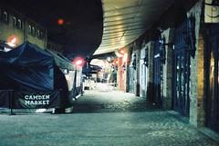 Camden Market (goodfella2459) Tags: nikon f4 af nikkor 50mm f14d lens cinestill 800t 35mm c41 film night analog colour camden town market london building tent light manilovefilm