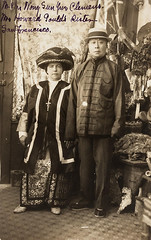 Mr. and Mrs. Wong Sue Yun Clemens - San Francisco, California (The Cardboard America Archives) Tags: 1906 sanfrancisco vintage cityinruins 1907 disaster couple rppc california
