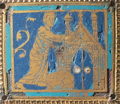Marking the lintel at Passover with the sign of the Tau (Nick in exsilio) Tags: newyork unitedstates us champlevé enamel copper alloy gilt passover tau blood lamb paschal moses typology cross