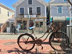rusty bike sunny April day Provincetown 2018 (rikahlberg) Tags: provincetown bicycle capecod bike bikes