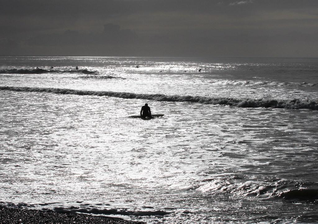surfers, South Beach, Aberystwyth