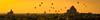 Balloons (Xversion1) Tags: horizon tháp landscape sunset nature miếnđiện monument myanmar đền sun sky fog chùa travel stupa cloud bulethi burma trip sunlight bagan sunrise temple mountain