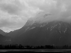 Füssen Forggensee (madmattus) Tags: lumix lumixde panasonic lumixg81 photochallenge photochallenges learnfotograph learnphotography cold germany winter coldday landscapelovers landscapephotography forggensee füssen allgäu fotografie beautiful blackandwithe blackandwithephoto blackandwithephotography fog foggy