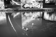 Trolley'd in the Loddon (stopdead2012) Tags: reading berkshire winnersh river loddon trolley water graffiti
