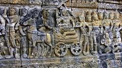 """INDONESIEN,Java, Borobudur - buddhistische Tempelanlage, Relief, 17256/9773 (roba66) Tags: relief skulptur sculpture buddha reisen travel explorevoyages urlaub visit roba66 asien südostasien asia eartasia """"southeastasia"""" indonesien indonesia """"republikindonesien"""" """"republicofindonesia"""" indonesiearchipelago inselstaat java borobodur barabudur tempelanlage tempel temple yogyakarta """"mahayanabuddhismus"""" """"buddhisttemple"""" statue bauwerk building architektur architecture arquitetura kulturdenkmal monument fassade façade platz places historie history historic historical geschichte"""