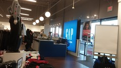 Checkouts, from women's (Retail Retell) Tags: gap factory store outlet closing closure liquidation sale south lake centre southaven ms desoto county retail tanger relocation
