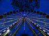 Big Metalic Wheel (voyageurrr) Tags: big grand wheel roue metal metallic fest fete construction roundabout carrousel карусель колесо конструкция металл lights lumiere blue bleu view vue angle shot image picture construccion sony geometrique geometry symmetrie symetrie ciel sky cielo