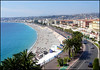 View of Nice,  France. (Country Girl 76) Tags: france nice frontage prom sea seaside buildings architecture holiday palm trees people flags sky hills beach
